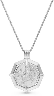 Missoma Silver Lucy Williams Octagon Medallion Coin Necklace
