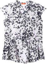 Joe Fresh Women's V-Neck Silk Blouse, JF Midnight Blue (Size S)