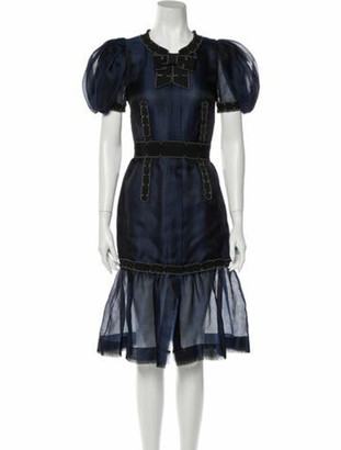 Chanel 2008 Knee-Length Dress w/ Tags Blue