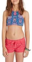 Billabong Girl's Wave Print Volley Shorts