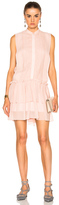 Lover Iris Drop Waist Mini Dress in Neutrals,Pink.