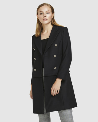 ARIS - Women's Black Winter Coats - Convertible Wool Coat - Size One Size, XS at The Iconic