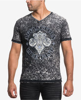 Affliction Men's Tried Attack Cotton Reversible Graphic-Print V-Neck T-Shirt