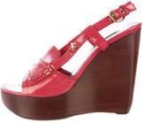 Louis Vuitton Patent Wedge Sandals