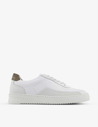 Filling Pieces Mondo Ripple DCT leather and suede low-top trainers