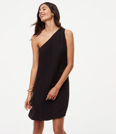 LOFT Petite One Shoulder Dress