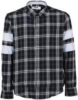 MSGM Marcelo Burlon Paneled Checked Shirt