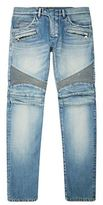 Balmain Regular Washed Biker Jeans