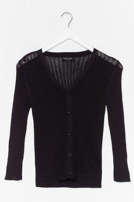 Nasty Gal Womens Touch of Magic Ribbed Cardigan - Black - M/L