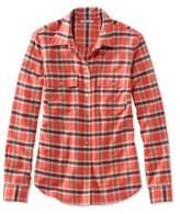 L.L. Bean Signature Lightweight Flannel Shirt, Plaid