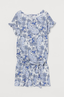H&M MAMA Patterned Romper - White