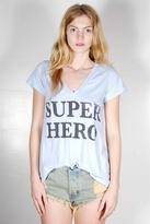 Rebel Yell Super Hero V Tee in Oxford Blue