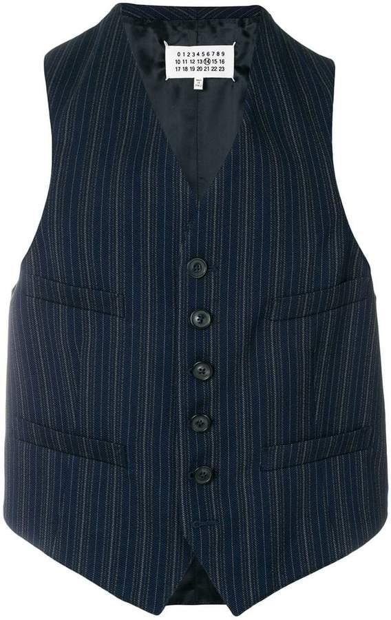 Maison Margiela pinstripe waistcoat