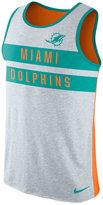 Nike Men's Miami Dolphins Stripe Tri Tank