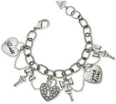 GUESS Silver-Tone Swag Charm Bracelet