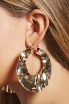 Forever 21 Oversized Hammered Hoops