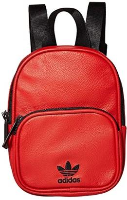 adidas Originals Mini PU Leather Backpack (Scarlet/Black) Backpack Bags