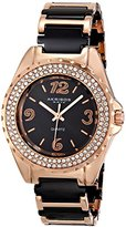 Akribos XXIV Women's AK514RG Crystal-Accented Two-Tone Watch with Link Bracelet