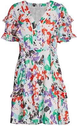 Tanya Taylor Rhett Floral Silk Mini Dress