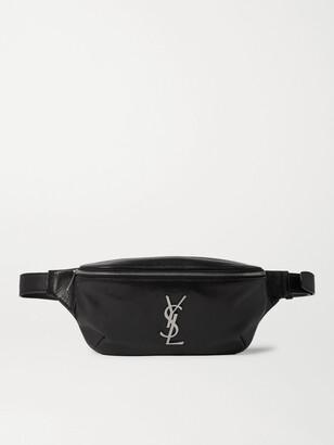 Saint Laurent Logo-Appliqued Leather Belt Bag