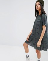 Asos Camo Slouch T-Shirt Dress