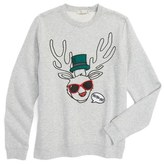 Stella McCartney Kids Biz Reindeer Graphic Sweatshirt (Toddler Girls, Little Girls & Big Girls)
