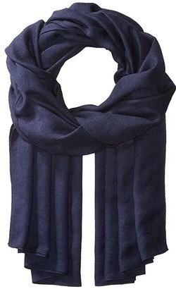 Polo Ralph Lauren Lux Signature Travel Wrap (Cruise Navy) Scarves