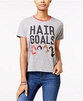 Mighty Fine Juniors' Disney Princess Hair Goals Graphic T-Shirt