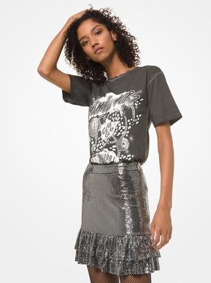 MICHAEL Michael Kors Mirror Dot Jersey Tiered Ruffle Skirt