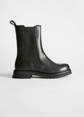 And other stories Chunky Sole Leather Chelsea Boots