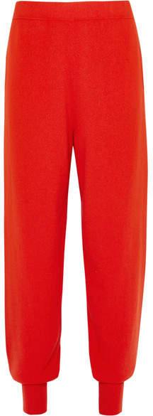 Jil Sander Cashmere Track Pants - Red