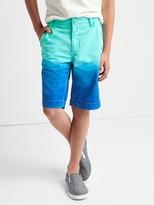 Gap Dip-dye flat front shorts