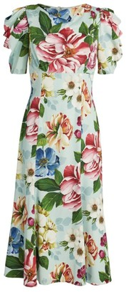 Dolce & Gabbana Puff-Sleeved Floral Dress
