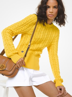 Michael Kors Collection Cable Cashmere Sweater