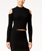 Jessica Simpson Albia Cropped Cold-Shoulder Sweater