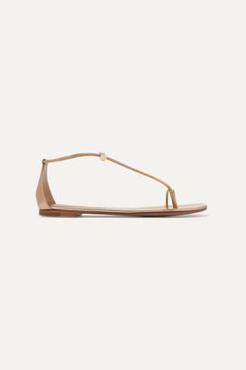 Gianvito Rossi Metallic Leather Sandals - Gold