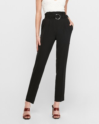 Express High Waisted O-Ring Paperbag Ankle Pant