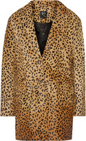 McQ by Alexander McQueen Leopard-print calf hair coat