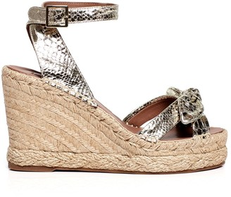 Tabitha Simmons Ross snake-effect wedge sandals