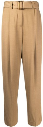 Pt01 Bianca high-waisted belted trousers