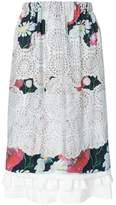 Comme des Garcons laser-cut floral midi skirt