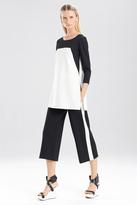 Josie Natori Double Knit Jersey 34 Sleeve Color Block Tunic