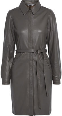 Walter Baker Clara Belted Leather Dress