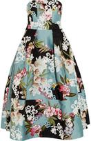 Erdem Green Carpet Challenge Alina Appliquéd Duchesse-satin And Brocade Gown - Blue