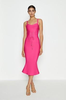 Coast Corset Detail Bandage Midi Dress