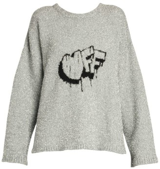 Off-White Off Lurex Knit Sweater
