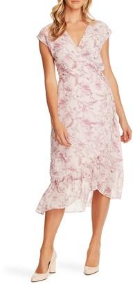 Vince Camuto Botanical Breeze Faux Wrap Dress