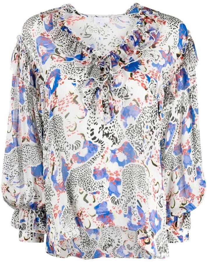 Lala Berlin Blanka cheetah-print blouse