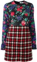 MSGM Floral Multi Pattern Dress
