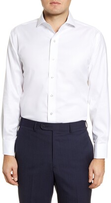 Lorenzo Uomo Trim Fit Oxford Cotton Dress Shirt